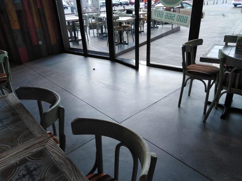 Polished Concrete Restaurant-Dubai