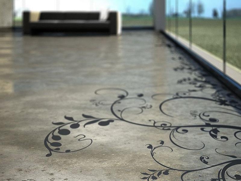 Stencilling Concrete: