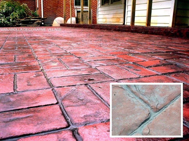 Hairline Cracks In Stamped Concrete Flooring!